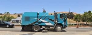 Truck Sweeper painted as Shark